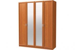 Шкаф распашной 4-х дверный с зеркалами - Мебельная фабрика «Континент»