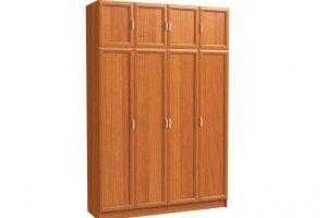 Шкаф распашной 4-х дверный с антресолью - Мебельная фабрика «Континент»