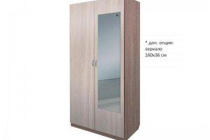 Шкаф распашной две двери с зеркалом - Мебельная фабрика «ДОСТО»
