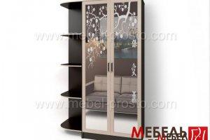 Шкаф распашной двухстворчатый - Стайл Люкс Д-26 - Мебельная фабрика «МЕБЕЛЬ ПРОСТО»