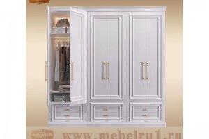 Шкаф распашной классический Пикадилли - Мебельная фабрика «Лидер Массив»