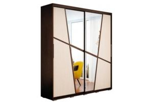 Шкаф распашной Крафт-2 венге - Мебельная фабрика «Андрей»