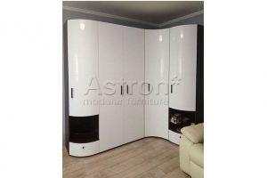 Шкаф распашной радиусный белый - Мебельная фабрика «Астрон»
