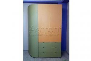 Шкаф распашной радиусный w161231 - Мебельная фабрика «Астрон»