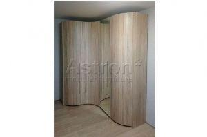 Шкаф распашной радиусный w171217 - Мебельная фабрика «Астрон»
