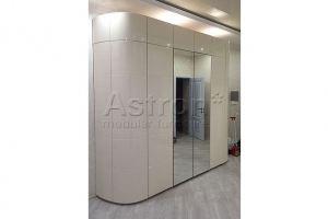 Шкаф распашной радиусный w180212 - Мебельная фабрика «Астрон»
