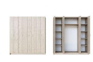 Шкаф распашной со складными дверями