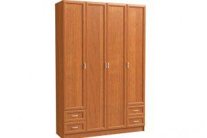 Шкаф 4-х дверный с 2-мя мал. ящиками - Мебельная фабрика «Континент»