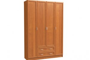 Шкаф 4-х дверный с 2-мя бол. ящиками - Мебельная фабрика «Континент»