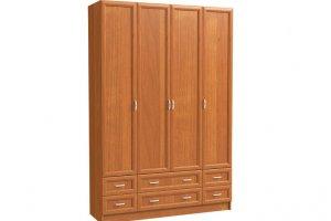 Шкаф 4-х дверный с 2-мя ящиками - Мебельная фабрика «Континент»