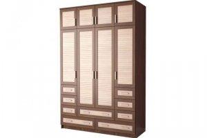 Шкаф распашной Жалюзи ЧР-17 4-х дверный - Мебельная фабрика «Мебельком»