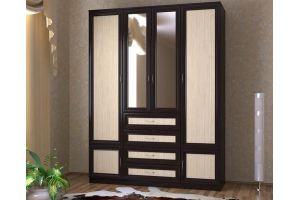 Шкаф с комодом 1600 венге - Мебельная фабрика «СлавМебель»