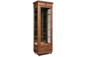 Шкаф с витриной Юстина 2371 - Мебельная фабрика «Пинскдрев»