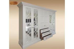 Шкаф с зеркалами Орлеан - Мебельная фабрика «Лидер Массив»