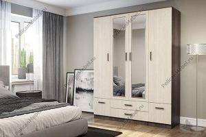 Шкаф с зеркалом Престиж 002 - Мебельная фабрика «Пеликан»
