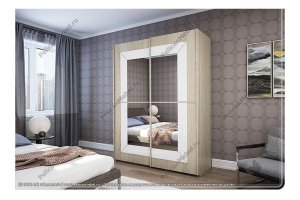 Шкаф с зеркалом Риал-Б - Мебельная фабрика «Пеликан»