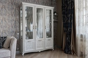Шкаф сервант Прованс белый - Мебельная фабрика «ARVA»