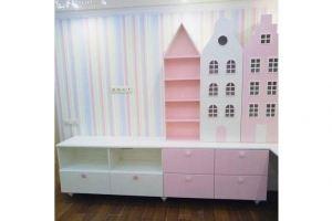Шкаф со стеллажом детский - Мебельная фабрика «BLISS-HOME»