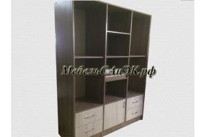 Шкаф-стеллаж комбинированный 0035 - Мебельная фабрика «САнЭК»