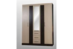 Шкаф трехсекционный с зеркалом СП-44 - Мебельная фабрика «SPSМебель»