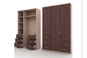 Шкаф трехстворчатый - Мебельная фабрика «Мебель Шик»