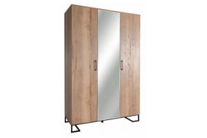 Шкаф трехстворчатый с зеркалом Loft - Мебельная фабрика «Perrino»