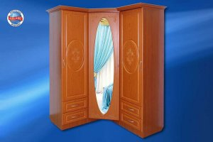 Шкаф угловой Эстрада с зеркалом - Мебельная фабрика «Альянс»