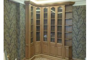 Шкаф угловой из массива дубу - Мебельная фабрика «Винтаж»