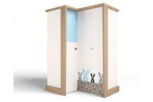 Шкаф угловой MIX Bunny blue - Мебельная фабрика «ABC King»