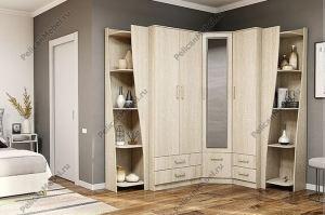 Шкаф угловой Престиж 001 - Мебельная фабрика «Пеликан»