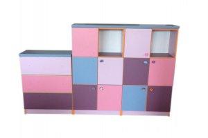Шкаф в детскую низкий модульный - Мебельная фабрика «Омега»