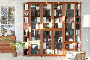 Шкаф-витрина Библиотека Рио - Мебельная фабрика «Янтарь»