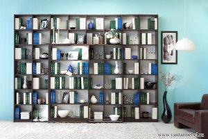 Шкаф-витрина Библиотека Стайл - Мебельная фабрика «Янтарь»