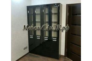 Шкаф-витрина черный 021 - Мебельная фабрика «САнЭК»