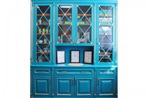 Шкаф-витрина синий - Мебельная фабрика «BLISS-HOME»
