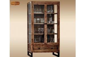 Шкаф-витрина Сириус из дуба - Мебельная фабрика «Лидер Массив»