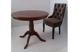 Стол шпонированный+стул люкс/велюр - Мебельная фабрика «Астера (ТМФ)»