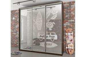 Шкаф-купе зеркальный Сидней - Мебельная фабрика «Мебель Поволжья»