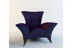 Синее кресло AL 303 - Мебельная фабрика «Alternatиva Design»