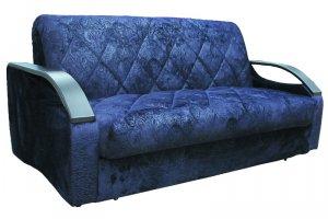 Синий диван Томас 155 аккордеон - Мебельная фабрика «Комфорт-S»