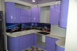 Сиреневая радиусная кухня - Мебельная фабрика «Формула уюта»
