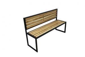 Скамейка без подлокотника Прямая спинка - Мебельная фабрика «ЯСЕНЬ-ПЕНЬ»