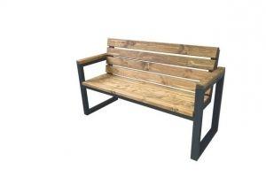 Скамейка с деревянными подлокотниками - Мебельная фабрика «ЯСЕНЬ-ПЕНЬ»