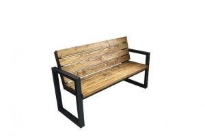 Скамейка с металлическими подлокотниками - Мебельная фабрика «ЯСЕНЬ-ПЕНЬ»