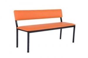 Скамья Банкетка со спинкой Агат - Мебельная фабрика «Металл Мебель»