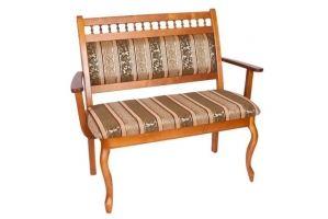 Скамья Элегант с подлокотниками - Мебельная фабрика «Багсан»