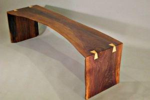 Скамья из слэба американского ореха - Мебельная фабрика «Loft Z»