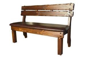 Скамья Медведь (кожа) - Мебельная фабрика «Кедр-М»