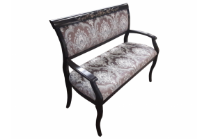 Скамья с деревянными подлокотниками - Мебельная фабрика «Верона»