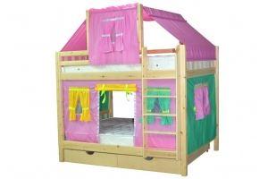 Кровать для детской Скворушка-4 двухъярусная - Мебельная фабрика «Мебель Холдинг»
